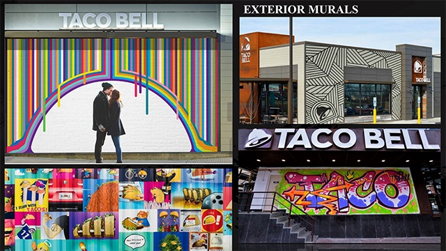 Taco Bell's murals designed by local artists give individual stores unique touches.